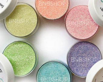 Pretty Pastels Bundle || Exclusive Premium Polyester Glitter, 1oz by Weight • TRANSPARENT • || 6oz total