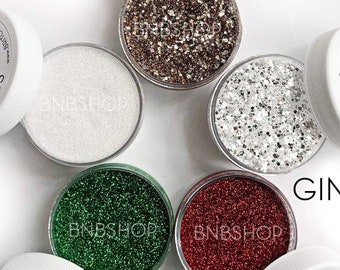 Gingerbread House Bundle || Premium Polyester Glitter, 5 Colors Total || 4 .008 cut, 1 chunky mix