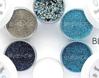 Blue Camo Bundle || Premium Polyester Glitter, 1oz by Weight each, 6oz total