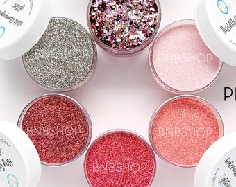 Pink Camo Bundle || Premium Polyester Glitter, 1oz by Weight each, 6oz total