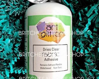 4oz Art Glitter FABRIC Dries Clear Adhesive