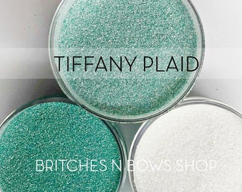 Tiffany Plaid, Set of 3 Glitters OR Mix Only Option || Exclusive Premium Polyester Glitter, 1oz each glitter +  2oz jar of mix || .008 cut