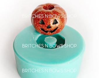 Pumpkin Jack O Lantern Straw Topper Silicone Mold    BnB Exclusive Mold