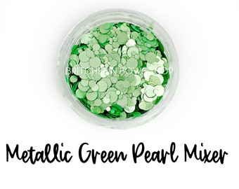 Metallic Green Pearl || Dot Mixer, Sample Jar • OPAQUE •