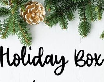Holiday Box || 10 Glitters, 4 Micas, 4 Clear Casts, and 2 Straw Topper Molds || Ships Late November