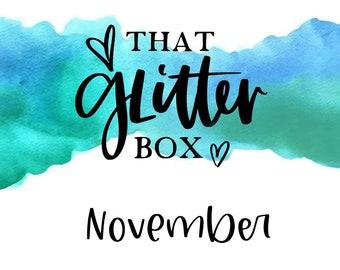 That Glitter Box    Four 2oz Glitters, 2+ BNB Collectibles, 0NE Random Box with BnB Bonus • NO DISCOUNTS