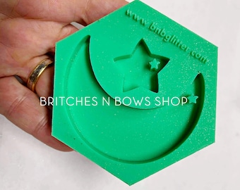 Moon and Star Silicone Mold    BnB Exclusive Keychain Mold