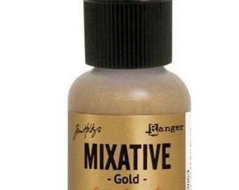 Gold Mixative Alcohol Ink 0.5 fl oz    Tim Holtz, Ranger