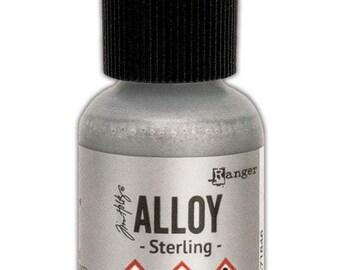 Sterling Alloy Alcohol Ink 0.5 fl oz    Tim Holtz, Ranger