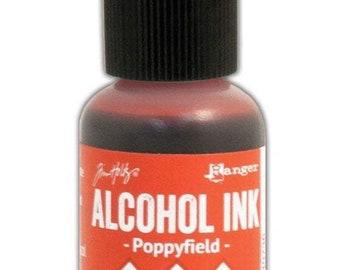 Poppyfield Alcohol Ink 0.5 fl oz    Tim Holtz, Ranger