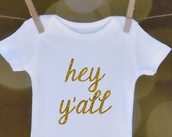Hey Y'all in Cursive // Baby Apparel, Toddler Shirts, Trendy Baby Clothes, Cute Baby Clothes, Baby and Toddler Clothes