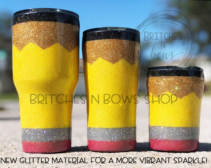 Featured listing image: Original Glitter Pencil Tumbler