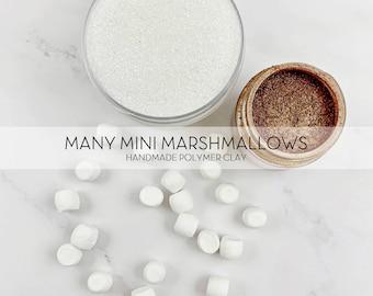 Many Mini Marshmallows || Polymer Clay FAKE Marshmallow Pieces || 20 pieces per jar