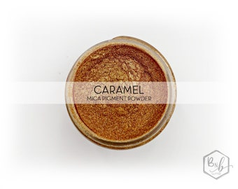 Caramel Pigment Powder || Cosmetic Mica Pigment for Crafts || ~8g