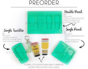 Pencil Tumbler Silicone Mold || Exclusive BnB Product •PRE BUY• || Do NOT Combine with Other Items