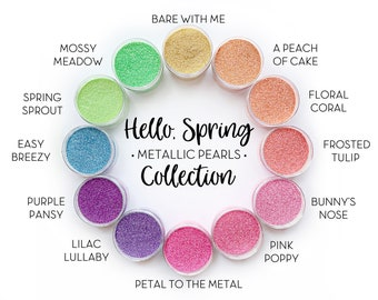 Hello Spring Collection || Polyester Glitter, 1oz by Weight • OPAQUE • || 12 glitters total