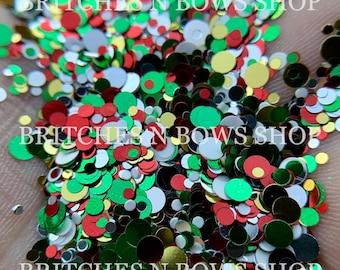 Jingle Balls || Exclusive Confetti Dot Glitter Mix, 1oz Jar • OPAQUE •