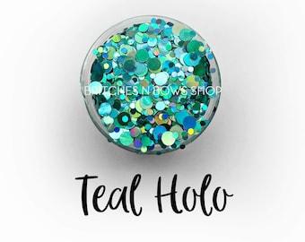 Teal Holo || Dot Mixer, Sample Jar • OPAQUE •