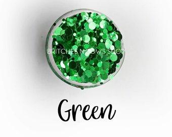 Green Metallic || Dot Mixer Sample Jar • OPAQUE •