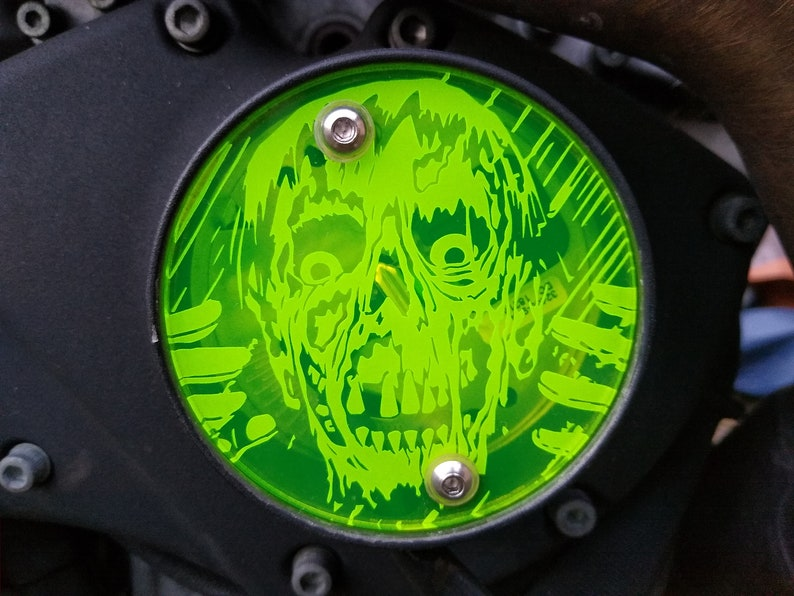 Buell Ghoul Neon Green Timing Cover fits 03-07 Buell XB image 0