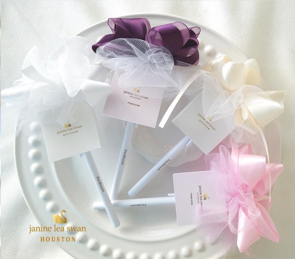 Flower Pens Floral Satin and Tulle 40 Pen Bloom Design Event