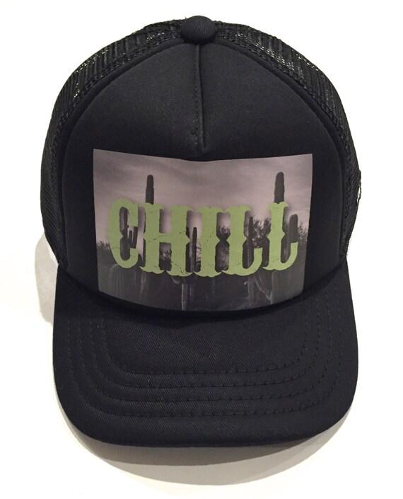 afd482483c90a Chill Baby   Kids Trucker Hat adjustable snapback Flat Brim