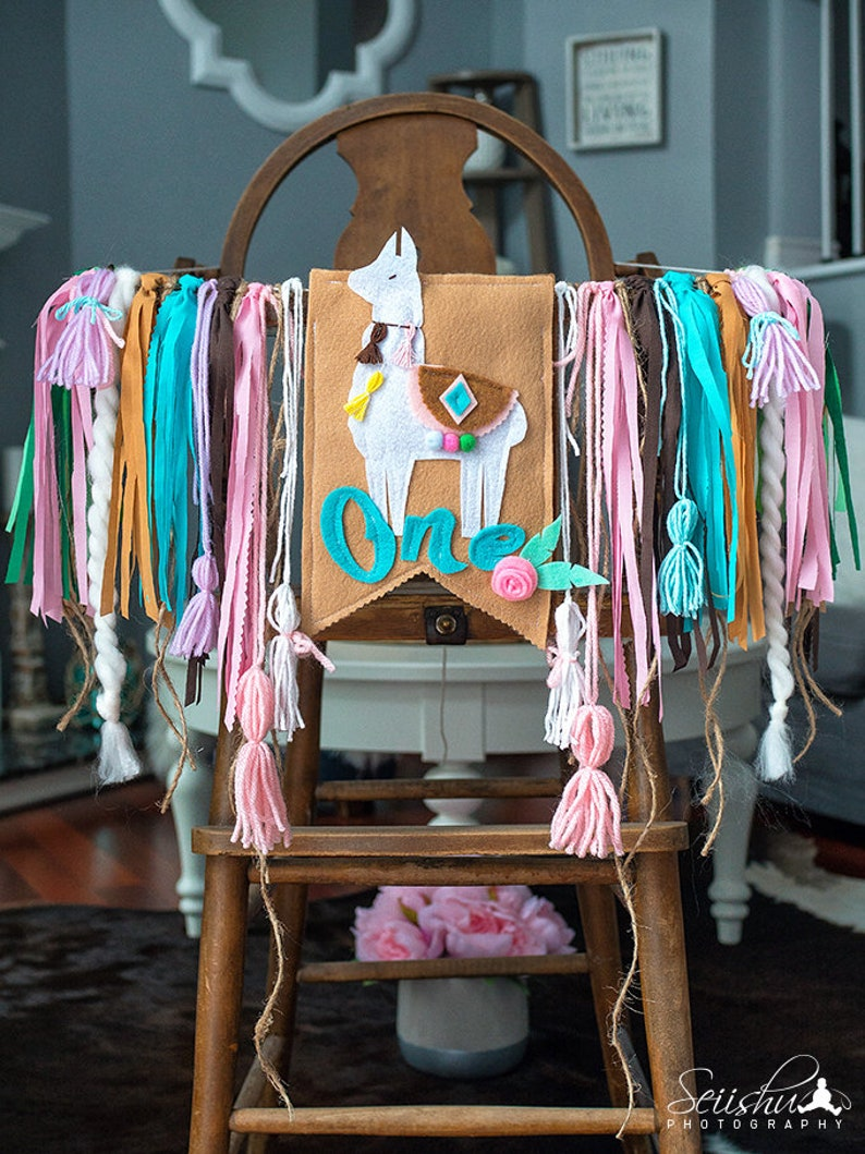 1st Birthday Mexican Cactus Birthday Banner Fiesta First Birthday Fiesta Highchair Banner Mexican Party Llama Party Mexican Banner