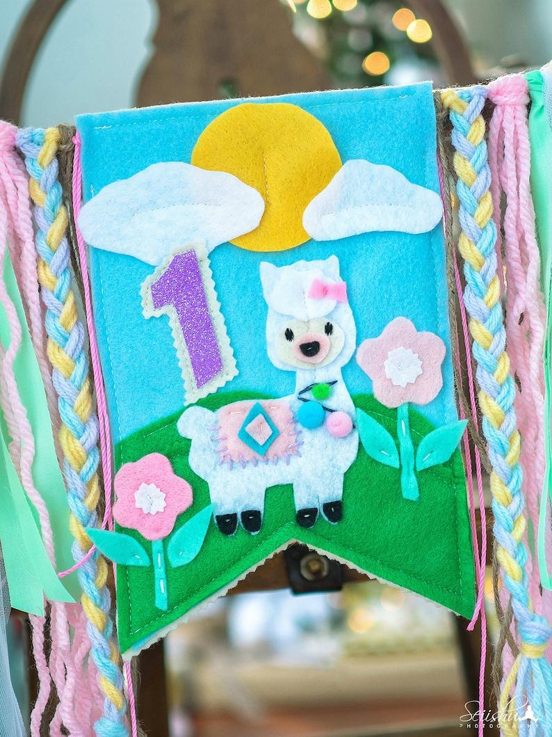 Llama Birthday Banner Llama Highchair Llama Birthday Invitation Llama Birthday 1st Birthday Llama Highchair Llama Party Supplies