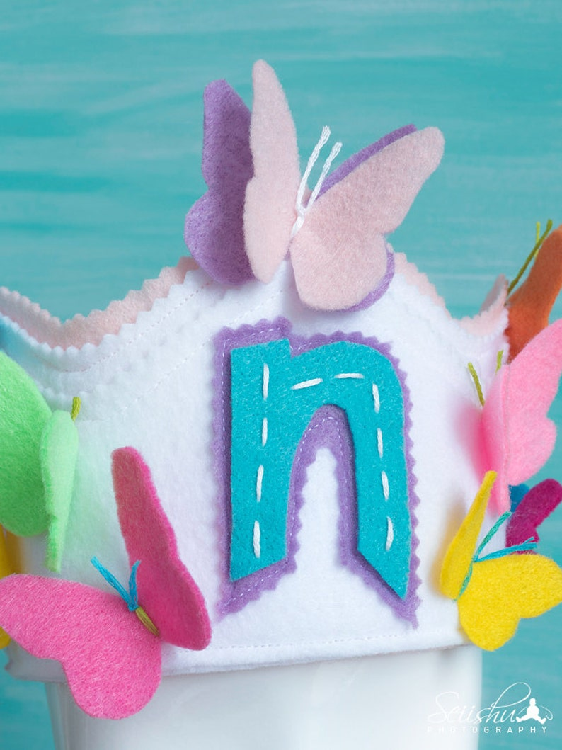 Butterfly Crown Rainbow Birthday Butterfly Birthday Banner 1st Birthday Butterfly Crown Rainbow Crown Rainbow Butterfly Birthday Crown