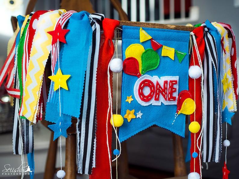 1st Birthday Banner Circus Star Birthday Banner Carnival Birthday Banner Balloon Birthday Banner Balloon Highchair Banner Circus Banner