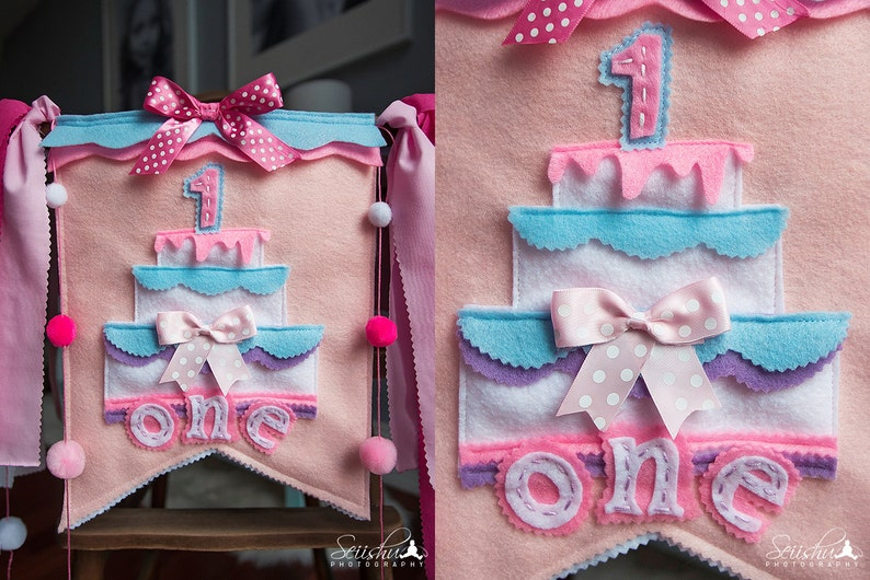 PRINCESS Birthday Banner Princess Birthday First Birthday Highchair Banner Girl One Birthday Banner Baby 1st Birthday High Chair Banner