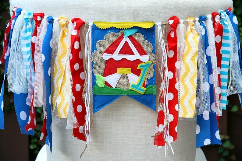 Carnival Highchair Banner Circus High Chair Carnival Birthday Banner First Birthday Banner Circus Birthday Banner Circus Birthday Crown