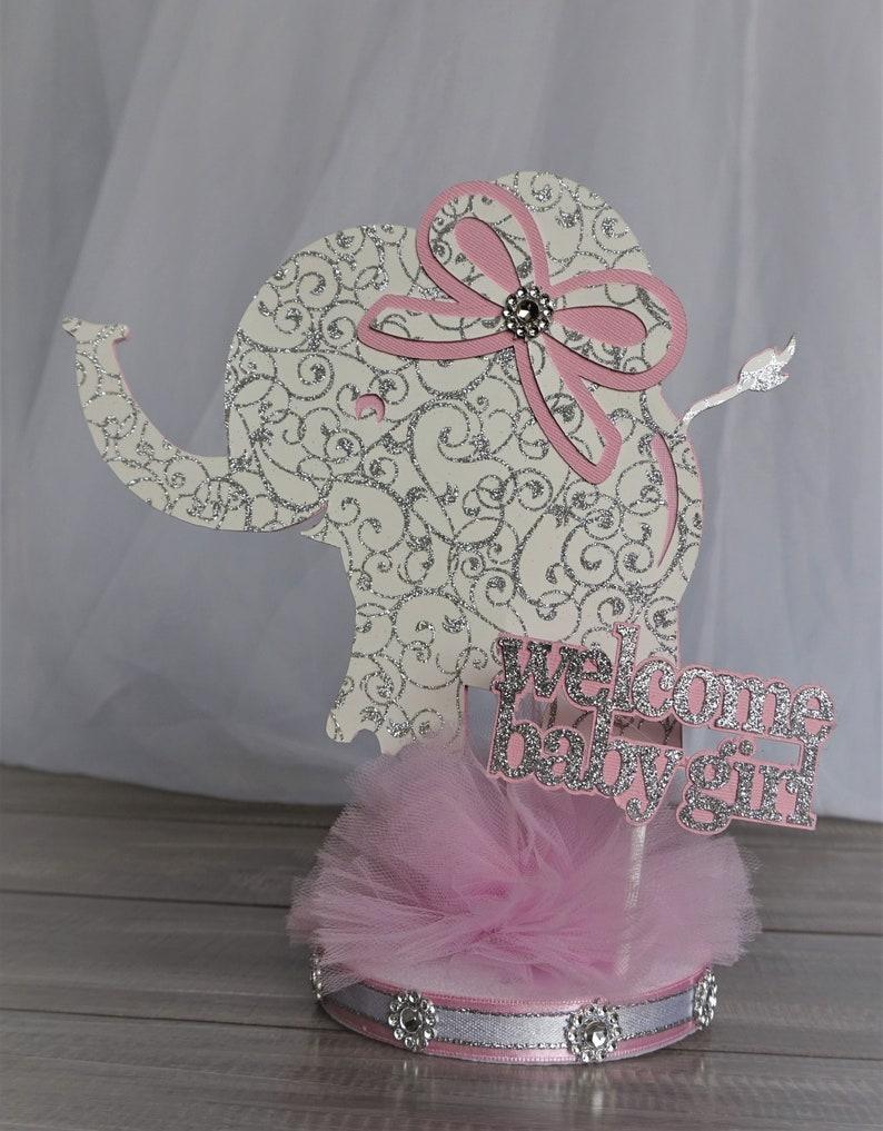 Baby Elephant CenterpieceGirl Elephant Baby ShowerGirl Baby ShowerGirl Elephant Centerpieces baby girl Elephant Theme decorBaby decor