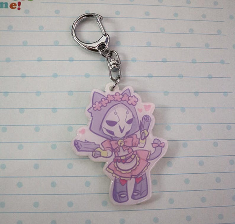 Kawaii Reaper Overwatch Keychain  4292a9920ca7
