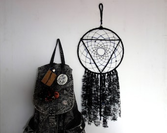 Dreamcatcher | geometric, black, hippie, homedecor, gift
