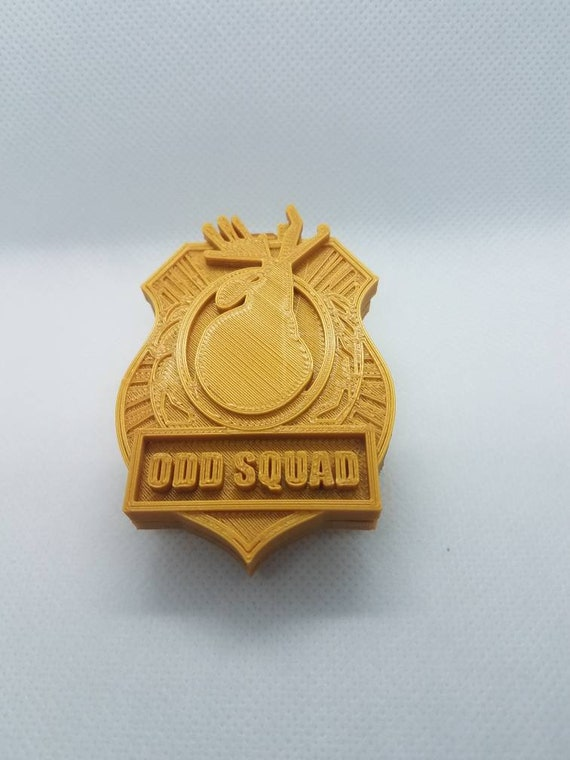 image regarding Odd Squad Badge Printable called Peculiar Squad Badge Prices of the Working day