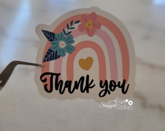 Thank you for supporting my small Business, Thank you Stickers,Cookie Labels,Cookie Maker, Cookier, Small Shop, Small Business, Food Sticker