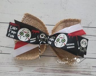 Halloween Bows, Jason, Halloween, Craft, Ribbon, Bows, Cookies, Cookie Maker, Cookie Packaging, gift packaging
