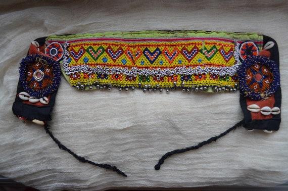 Vintage Hand Beaded Afghan Unique Belt