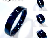 Blue Tungsten Ring, Couples Wedding Ring, Wedding Band Sets, Mens Tungsten Band, Tungsten Rings, His and Hers, His and Hers  Promise Rings