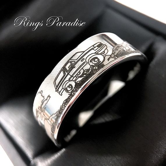 Mens Wedding Bands Custom Made Wedding Band Tungsten Etsy