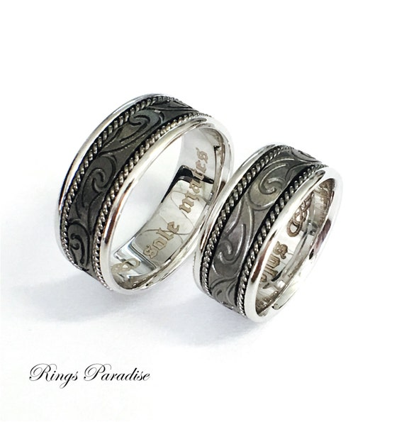 Celtic Wedding Ring Sets | Celtic Knot Ring Celtic Wedding Bands Scottish Ring Unique Etsy