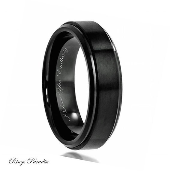 Black Wedding Band Mens Wedding Band Black Ring Men Promise Rings Mens Proposal Ring Mens Wedding Ring Mens Engagement Ring Weddings