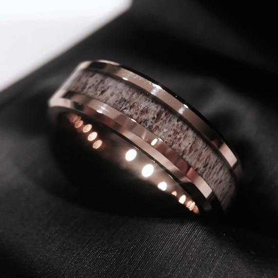 Dear Antler Ring Wedding Ring Deer Antler Wedding Band Etsy