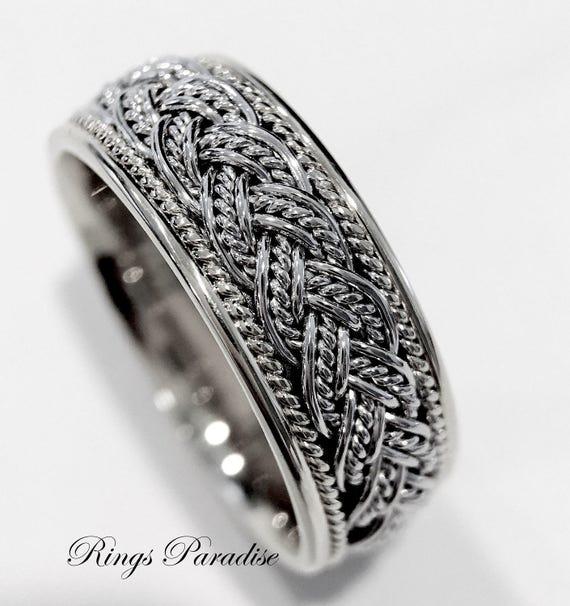 Love Knot Ring Men's Women Scottish Ring Unique Celtic