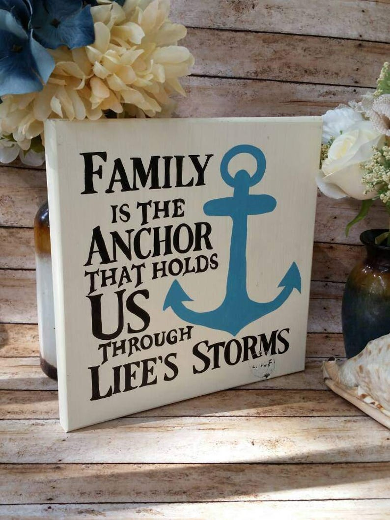 Family Is The Anchor That Holds Us Through Lifes Storms Etsy