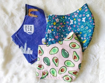 Handmade Face Masks, Face Covering, Cotton *Many designs available!*