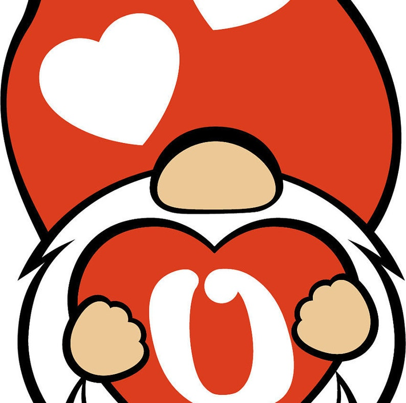 Download Gnome Valentine's Day SVG Love Heart Gnome Holding Heart ...