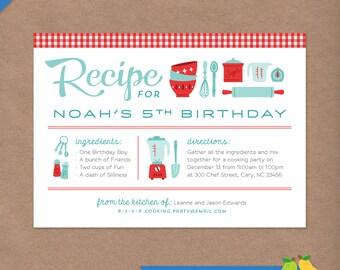 Invite recipe card etsy more colors cooking party printable birthday invitation retro recipe card stopboris Choice Image
