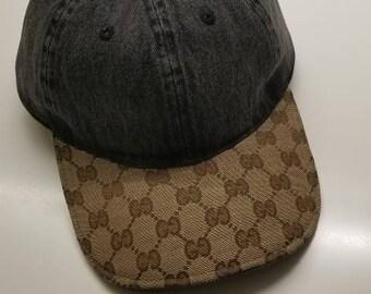 Custom Louis Vuitton Supreme Denim Blue Adjustable Dad hat  fb215566aed